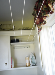 Retractable clothes line, such a great idea!