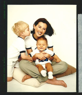 Marina with her sons when they were younger.