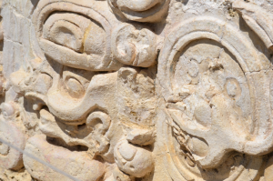 Mayan hieroglyphics. Photo taken during my trip at Palenque ruins.